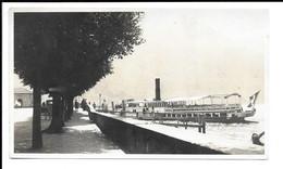 PORLEZZA , VECCHIA FOTO CON BATTELLO ( SEMPIONE ) , AGOSTO 1930 . - Como