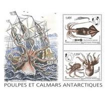 TAAF 2020 / Y&T N° ... ** :MI....**, Y&T N° ... Timbre - TAAF - Bloc Poulpes Et Calmars Antarctiques - Neufs