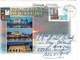 Enveloppe Châteaux De La Loire - Timbre Notre-Dame De La Salette Isère - - Lettres & Documents