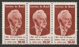 Brazil 1964 Sc 979  Strip Of 3 MNH** - Nuevos