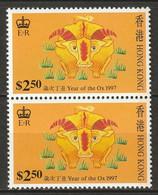 Hong Kong 1997 Sc 781a  Pair MNH** - Nuevos