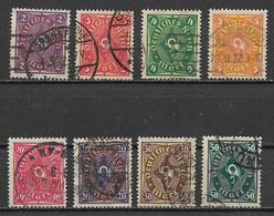 GERMANIA REICH REP.DI WEIMAR 1921-23 CORNO DI POSTA UNIF. 196-203 MLH (FILIGRANA 2)VF - Neufs