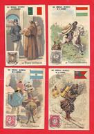 Chromo -La Poste ;Italie,Hongrie,Norvège,Argentine - Eau Minérale De Saint Galmier - Non Classés