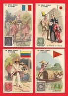 Chromo -La Poste ;Vénézuela, Madagascar, Deccan,Japon - Eau Minérale De Saint Galmier - Non Classés