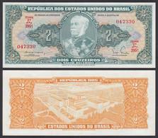 Brasilien - Brazil 2 Cruzaros (1956-58) Pick 157Aa UNC (1) Sig.3  (25080 - Otros – América
