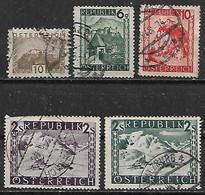 1929-48 Austria 5v. Castillos-paisajes - Usados