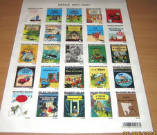 BLOK 143** KUIFJE - TINTIN - MNH - 25 Different Stamps And Languages 3636/60** Hoekjes Beschadigd!!! - Bloques 1962-....