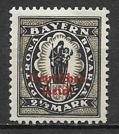 GERMANIA REICH REP.DI WEIMAR1920 FRANCOBOLLO DI BAVIERA SOPRASTAMPATO UNIF. 234 MLH VF - Neufs
