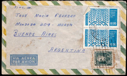 Brasil - 1963 - Lettre - Air Mail - Envoyé En Buenos Aires, Argentina - A1RR2 - Cartas