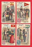 Chromo; Eau Minérale De Saint Galmier -la Poste ,Abyssinie,Suisse, Espagne, Perse - Autres
