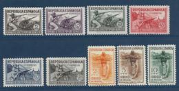 Espagne Milices Populaires N°644 à 652*  Très Frais & TTB - 1931-50 Unused Stamps