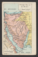 Egypt - Very Rare - Vintage Post Card - Map - SINAI - 1866-1914 Khedivate Of Egypt