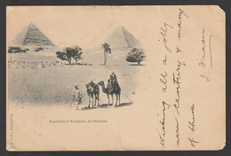 Egypt - Rare - Registered - Vintage Post Card - Pyramids - Cartas