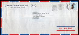 China - 1987 - Letter - Par Avion - Envoyé En Argentina - A1RR2 - Briefe U. Dokumente
