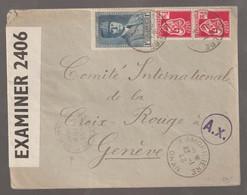Lettre Censurée De Lamoricière Oran Pour Genêve - Covers & Documents
