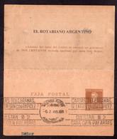 Argentina - 1940 - Faja Postal - Bande Postale - El Rotariano Argentino - Gral. San Martin - 1 Ctv - A1RR2 - Cartas