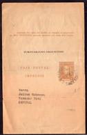 Argentina - 1940 - Faja Postal - Bande Postale - El Rotariano Argentino - Faustino Sarmiento - 1 Ctv - A1RR2 - Cartas