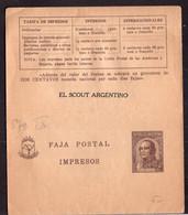 Argentina - 1940 - Faja Postal - Bande Postale - El Scout Argentino - J. Jose De Urquiza - 2 Ctv - A1RR2 - Cartas