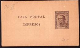 Argentina - 1940 - Faja Postal - Bande Postale - J. Jose De Urquiza - 2 Ctv - A1RR2 - Briefe U. Dokumente
