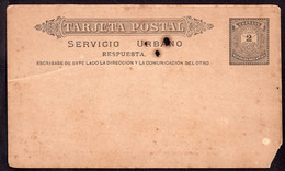 Argentina - Circa 1880 - Tarjeta Postal - Servicio Urbano - 2 Ctv - A1RR2 - Briefe U. Dokumente