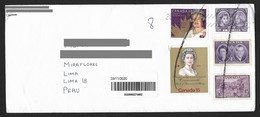 Canada Cover With Queen Elizabeth II Stamps Sent To Peru - Cartas