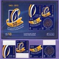 United Arab Emirates 2013. 50 Years National Bank. Celebrations. MNH - Emiratos Árabes Unidos