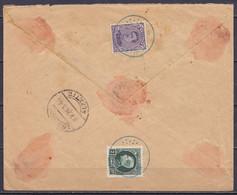 """L. Assurée """"Jos. Lentz-Linnartz"""" Affr. N°139+216 Càd Bleu ST-VITH B /-6-2-1924 Pour ESCH-SUR-ALZETTE - Griffe [VERSICHER - 1921-1925 Petit Montenez"""