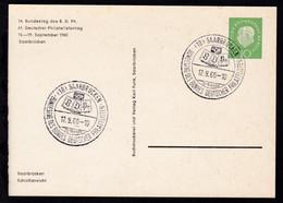 14. Bundestag Des BDPh/61. Deutscher Philatelistentag Saarbrücken 1960 - Sin Clasificación