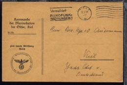 Maschinen-Stpl. Kiel 15.5.37 Auf Dienst-Bf. Mit Gedruck-ten L4 + BfSt.  - Sin Clasificación