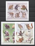 Guinea Animals Monkeys Singes Monos 2001 Mi#3046-3063 MNH - Monkeys
