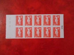 FRANCE CARNET YT 2713-C1 MARIANNE DE BRIAT Lettre D Rouge Adhésif** - Uso Corrente