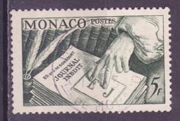 Monaco 1953 Y&T N°392 - Michel N°468 (o) - 15f Journal Inédit - Gebraucht