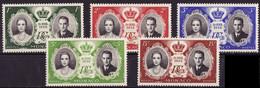Monaco 1956 Y&T N°473 à 477 - Michel N°561 à 565 *** - Mariage Princier - Ungebraucht