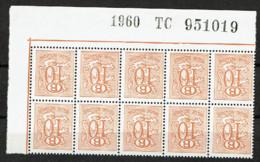 S 47  Bloc 10  Cdf  **  Insc. Marg. - Service