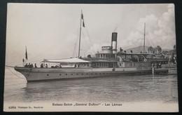 "74 - GENEVE - BATEAU-SALON  ""GENERAL DUFOUR "" LAC LEMAN - GE Geneva"