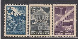 Bulgaria 1948 - L'amitie Bulgaro-roumaine, YT 600+PA54/55, Neufs** - Unused Stamps