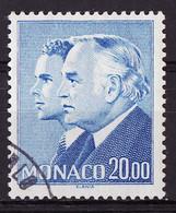 Monaco 1988 Y&T N°1614 - Michel N°1843 (o) - 20 F Princes Rainier III Et Albert - Used Stamps