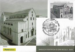 Cartolina Maximum BASILICA PONTIFICIA DI SAN NICOLA Bari ( 2017) - Cartoline Maximum