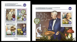 Central Africa 2020 65th Memorial Anniversary OfAlexander Fleming. Mushrooms. (608) OFFICIAL ISSUE - Champignons