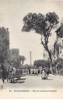Egypt - ALEXANDRIA - Pompey Street And Column - Publ. Messageries Maritimes 45 - Alexandrie