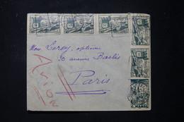 MAROC- Enveloppe De Casablanca Pour Paris En 1947 Par Avion - L 90108 - Briefe U. Dokumente
