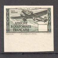 FR301 IMPERF 1937 FRENCH ECUATORIAL GUINEA !!! RARE ERROR NO NOMINAL AIR MAIL AVIATION 1ST MNH - Aerei