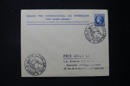 FRANCE - Oblitération Temporaire De Le Mans ( Prix Alfred Leblanc ) Sur Enveloppe En 1947 - Ballons - L 90112 - Posta Aerea