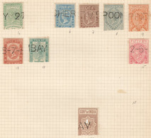 049 BRITAIN EAST INDIA COMPANY TELEGRAPH STAMPS 9ST USED - 1858-79 Kronenkolonie