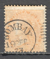 TT1385 1865 BRITAIN EAST INDIA COMPANY TWO ANNA WATERMARKED GIBBONS #62 1ST USED - 1858-79 Kronenkolonie