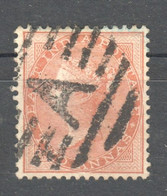 TT1391 1865 BRITAIN EAST INDIA COMPANY WATERMARK TWO ANNAS GIBBONS #63 1ST USED - 1858-79 Kronenkolonie