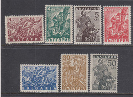 Bulgaria 1946 - Partisans, YT 497/503, Neufs** - Unused Stamps