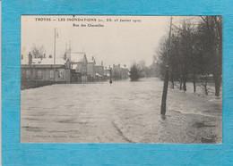 Troyes ( Aube ). - Les Inondations, 21, 22, 23 Janvier 1910. - Rue Des Charmilles. - Troyes