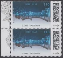 !a! GERMANY 2021 Mi. 3595 MNH Vert.PAIR W/ Left Margins (b) - Chess Computer Deep Blue - Unused Stamps
