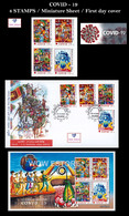 Sri Lanka Stamps COVID-19  GLOBAL VIRUS PANDEMIC 2020 MS/ FDC / STAMPS - Sri Lanka (Ceilán) (1948-...)